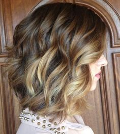 Curly Style with Ombre Coloring