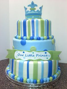 Little Prince theme baby shower cake