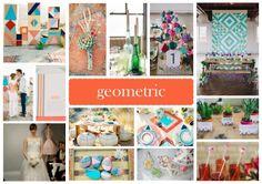 Geometric Vision Board Tipi Wedding, Wedding Events, Weddings, Wedding Styles, Wedding Ideas, Geometric Wedding, Event Styling, Handmade Wedding, Wedding Planning
