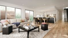 Carter Crange presents the Hudson. One of the many luxury house plans that elevate living towards luxury in Melbourne. Luxury House Plans, Dining Bench, Kitchen Dining, Lounge, Layout, Furniture, House Ideas, Home Decor, Lounges