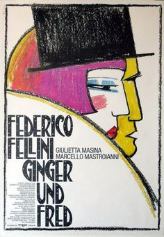 Ginger e Fred (1986)  Director Federico Fellini  Poster West Germany