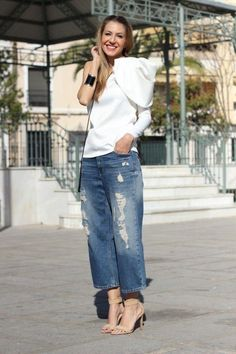 Denim Fashion, Fashion Pants, Fashion Outfits, Chic Outfits, Spring Outfits, Moda Jeans, Looks Jeans, Hijab Style, Casual Tie