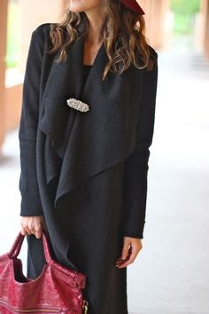 brooch on the jacket