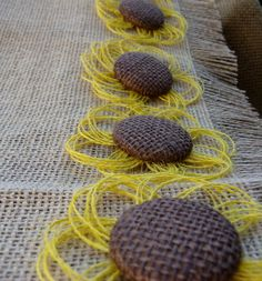 Sunflower Burlap Flower Set of 8 - Country Wedding Decor - Rustic - Western on Etsy, $12.95