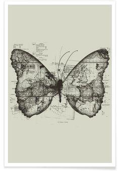 Butterfly effect als Premium Poster von Tobe Fonseca | JUNIQE