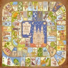 Game of the Goose (La Oca del Camino de Santiago). A fun way to learn about the #Camino del Santiago