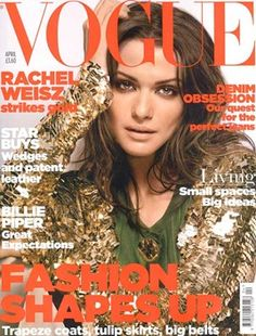 Rachel Weisz on Vogue UK, Apr 2006