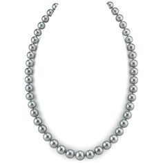 9-11mm Silver Tahitian South Sea Pearl Necklace-AAAA Quality ($2,899) ❤ liked on Polyvore featuring jewelry, necklaces, silver, south sea pearl necklace, silver necklace, silver jewellery, strand necklace and south sea pearl jewelry