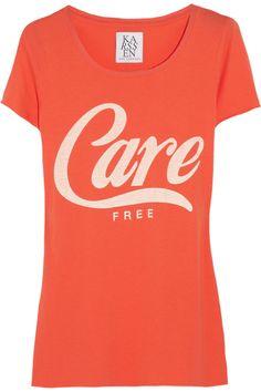 Zoe Karssen|Care-free cotton and jersey-blend T-shirt|NET-A-PORTER.COM
