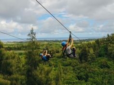 Bird's eye view of the north shore. Zipline Oahu! #CLIMBworks #AlwaysCLIMB