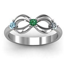 A Family- Mine. Three Stone Infinity Ring-www.jewlr.com