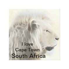 Cape Town South Africa - replace Cape Town with your city name. Cape Town South Africa, Sentimental Gifts, Africa Flag, Creatures, African, Canvas Prints, My Love, Animals, Lion