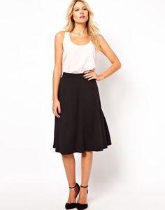Perfect work skirt | ASOS A-Line Midi Skirt in Ponte