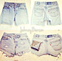 DIY refashioning shorts