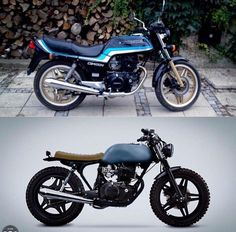 "3,710 Likes, 40 Comments - epidemic_motors (@epidemic_motors) on Instagram: ""Before and after. What do you think?Honda CB400 by @7sevencustoms #motorcycle #bike #custom…"""
