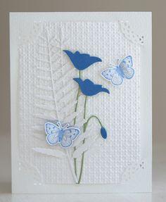 Memory Box prim poppy and fern dies