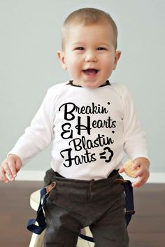 Our little needs this shirt! Cool Baby Stuff, Unique Baby Gifts, Baby Boy Outfits, Onesies, Kids, Clothes, Cute Babies, Baby Ideas, Baskets