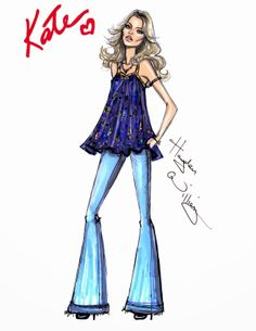 #Hayden Williams Fashion Illustrations #The 'Boho' Look by Hayden Williams for Rimmel London
