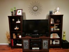 tv stand and wall decor | for the family room/kitchen | pinterest
