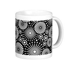 Beautiful retro black and white Mug