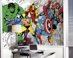 Marvel Classic Character XL Mural 6.5 x 10 Feet - Wall Sticker Outlet