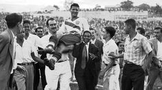 One of the biggest shocks in World Cup history happened in 1950, when the US beat England, thanks to a goal scored by Haitian Joe Gaetjens. After Gaetjens returned to Haiti a hero, he later disappeared and was killed, possibly by the president himself.