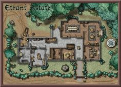 d&d house map Dungeons And Dragons Homebrew, D&d Dungeons And Dragons, Fantasy Map, Medieval Fantasy, Pathfinder Maps, Building Map, Rpg Map, Dnd 5e Homebrew, Map Maker