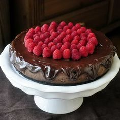 Chocolate Mousse Cheesecake - would have to substitute crust for gluten free but sounds sooo good  I love chocolate mouse