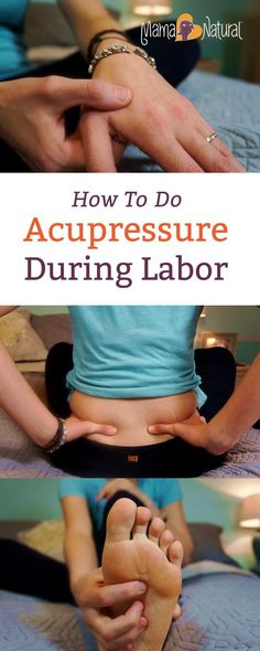 Here's how to do acupressure during labor—solo or with a partner's help. Acupressure can help jump start labor, relieve pain, and strengthen contractions. http://www.mamanatural.com/how-to-do-acupressure-when-youre-in-labor/