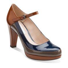 b08f5b901b Kendra Dime Cognac Multi - Clarks Womens Shoes - Womens Heels and Flats -  Clarks -