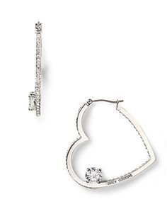 Juicy Couture Pavé Heart Hoop Earrings These Are Cool
