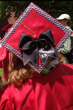 Need graduation cap decorating ideas? Check out our design your own graduation cap tool or choose from a large selection of popular grad cap decorations. Cheer Gifts, Cheer Mom, Cheer Stuff, Cheer Hair, Fun Stuff, Grad Cap, Graduation Caps, Graduation Ideas, Graduation 2015