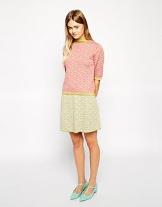 ASOS+Co-ord+Knitted+Skirt+In+Retro+Pattern