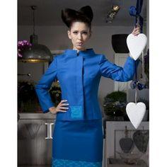 Beata Mielewczyk - niebieski kostium