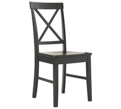 Buy HOME Pair of Black Cross Back Chairs at Argos.co.uk, visit Argos.co.uk to shop online for Dining chairs, Dining room furniture, Home and garden