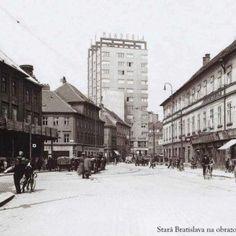 Bratislava, Old Street, Old Photos, Squares, Nostalgia, Street View, Times, Retro, Photography
