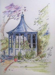 Summer House Sketch ~ John Edwards
