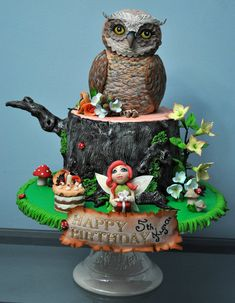 Fairy forest cake by Zorica's Cake Art by Hajnalka Mayor (7/21/2013) View details here: http://cakesdecor.com/cakes/73960