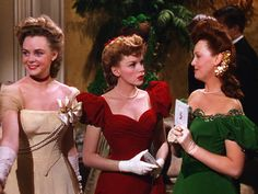 Judy Garland in Meet Me in St. Louis, wearing that fabulous red velvet gown