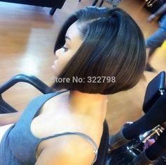 Cheap human hair bob wigs for black women glueless virgin brazilian lace front bob wigs short bob cut wigs free shipping