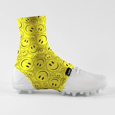 6984f1a43e7f Smiley Faces Spats   Cleat Covers