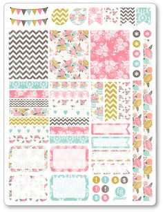One 6 x 8 sheet of planner stickers cut and ready for use in your Erin Condren life planner, Filofax, Plum Paper, etc! © Kimberly Grisham