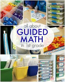 All about Guided Math and Math Centers in Grade. Great ideas for grouping students, storing centers, and low-prep centers - The Brown Bag Teacher First Grade Classroom, 1st Grade Math, Math Classroom, Grade 1, 1st Grade Centers, Teaching First Grade, Classroom Ideas, Third Grade, Homeschooling First Grade