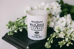 collectie.co.uk Rose & cashmere natural soy wax candle