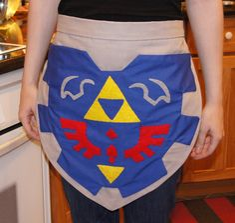 Shield Apron | Community Post: 10 More Geektastic Legend Of Zelda Crafts Now On Etsy