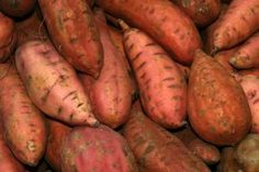 Sweet potatoes need to cure to be the sweetest. Clean them dry, not wet.