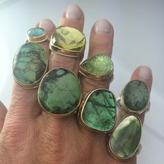 So many amazing shades of green!! Photo taken by @jewelry_maven on Instagram