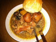 Rabbit stew with mushrooms