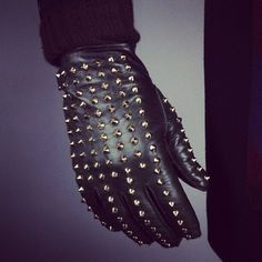 Studded leather gloves. I feel like if I ever got a motorcycle i would have to have these