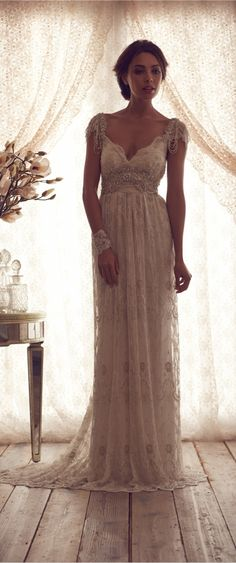 beautiful vintage wedding dresses or lace wedding dresses #empire